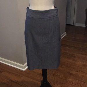 Vivienne Tam gray pencil skirt-  size 4.  EUC